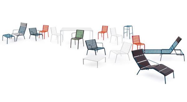 R e bouroullec detail striped chair - Ronan et erwan bouroullec ...