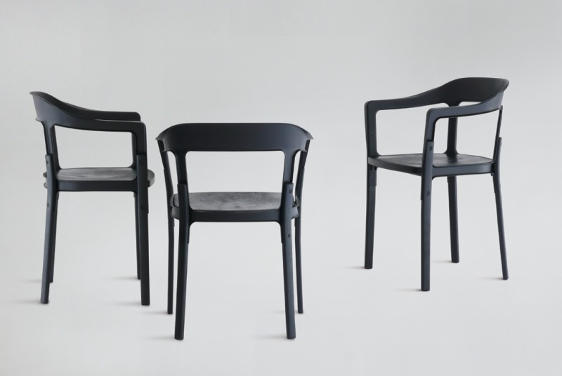 R e bouroullec detail steelwood chair - Ronan et erwan bouroullec ...
